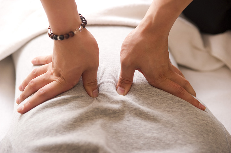 Acupressure treatment to Lower Back